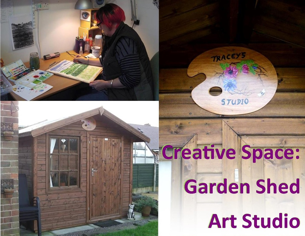 Creative space garden shed art studio for The garden studio