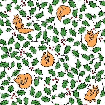 photograph relating to Free Printable Wrapping Paper named Absolutely free Squirrels! Printable wrapping paper.