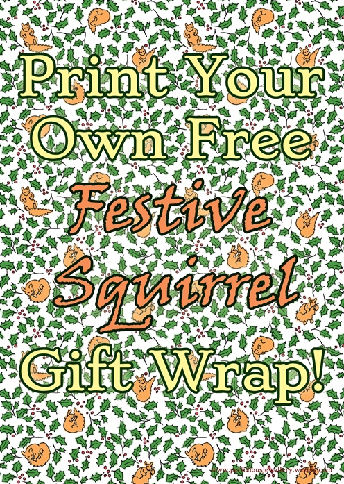 image relating to Free Printable Wrapping Paper known as Totally free Squirrels! Printable wrapping paper.