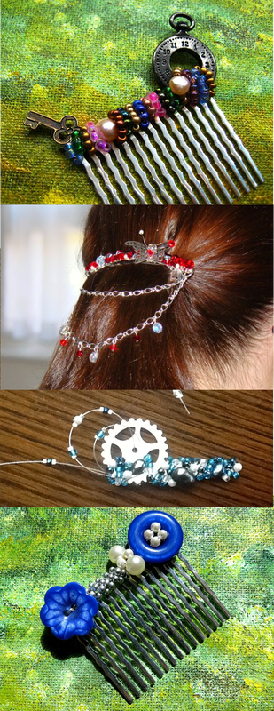 How even simple styles get exciting when you add some sparkle, or a quirky slide. Find out more: http://perfidiousjewellery.weebly.com/home/hair-another-excuse-to-accessorise